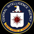 CIA Logo: Since his creation in 1946                               CIA is terrorising the whole world with                               bribes and drogue commerce, and it does                               not stop