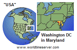 "Karte der ""USA"" mit Maryland               mit Washington DC"